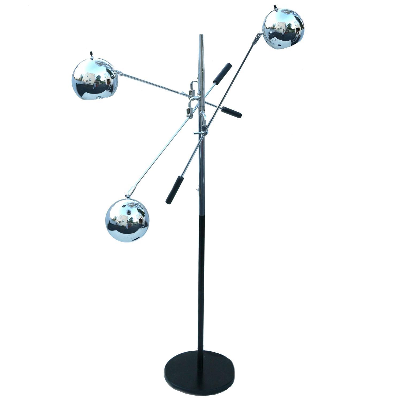 Robert Sonneman Triennale Atomic Orbiter Chrome Floor Lamp For ...