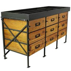 Industrial Army Chest of Drawers, 1950s