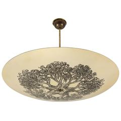 """Tree of Life"" Flush Mount Ceiling Light by Piero Fornasetti"