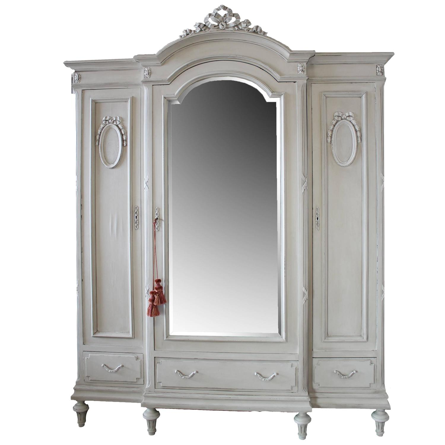 antique painted french country armoire in the louis xvi. Black Bedroom Furniture Sets. Home Design Ideas