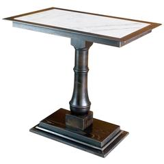 Classic Pedestal Bistro or Cafe Table with marble top