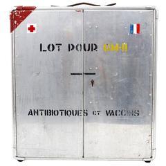 Decorative Military Medicine Cabinet, Aluminium, France, 1920s