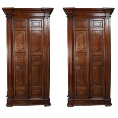 Exceptional Pair of Grand, talian Wardrobes