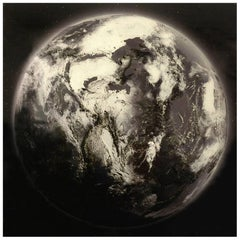 Photograph Wall Decoration Earth on Glass