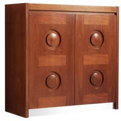 Brutalist Highboard in Mahogany