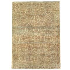 Antique Persian Lavar Kerman Rug