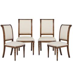 Set of Four Hillock Regency Style Dining Side Chairs
