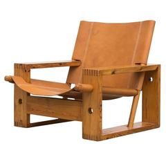 Leather Crate Lounge Chair by Aat Van Apeldoorn for Houtwerk Hattem