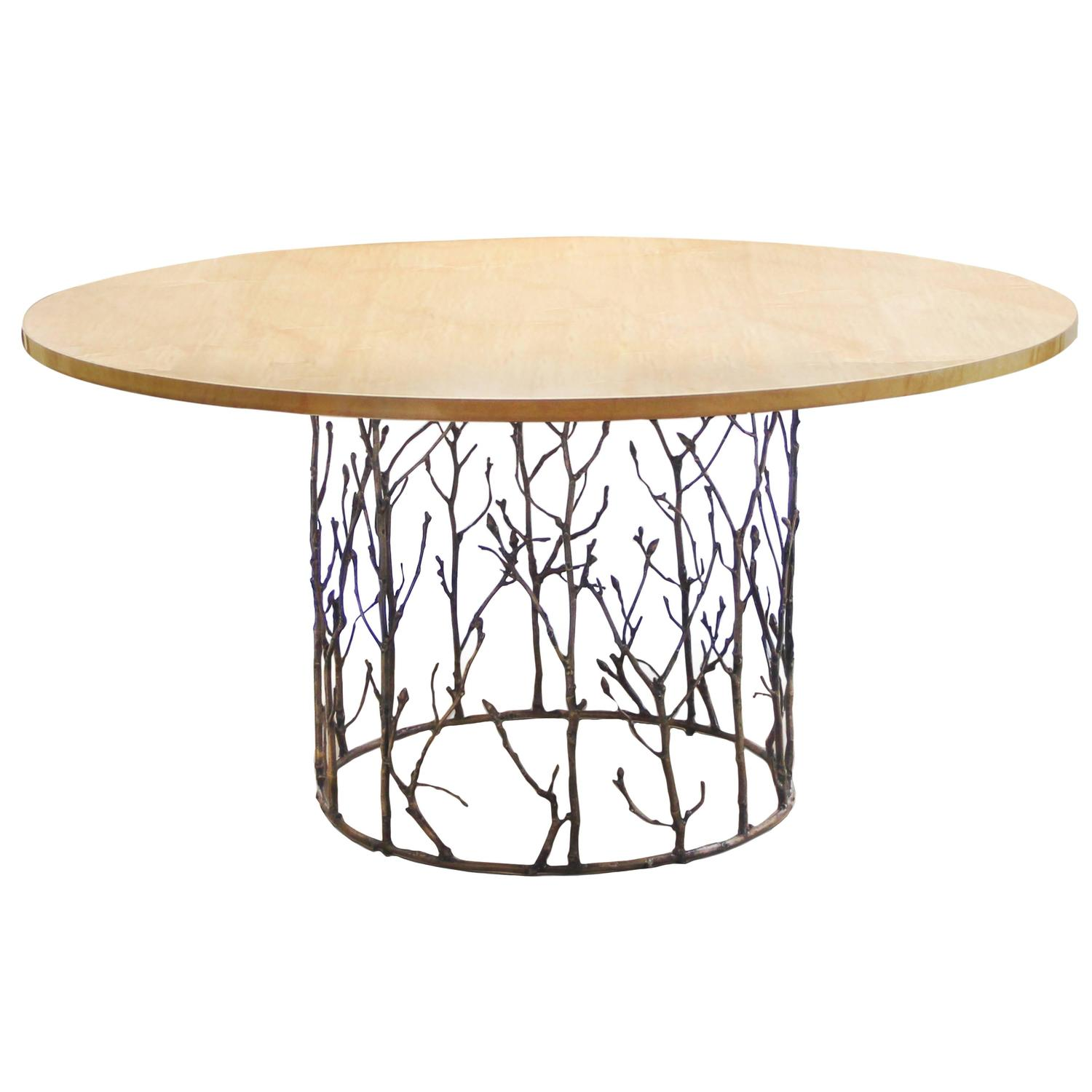 Gold Plated Brass Round Enchanted Dining Table By Koket At 1stdibs