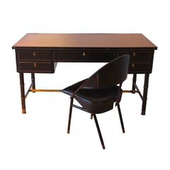 Desk and Chair by Jacques Adnet