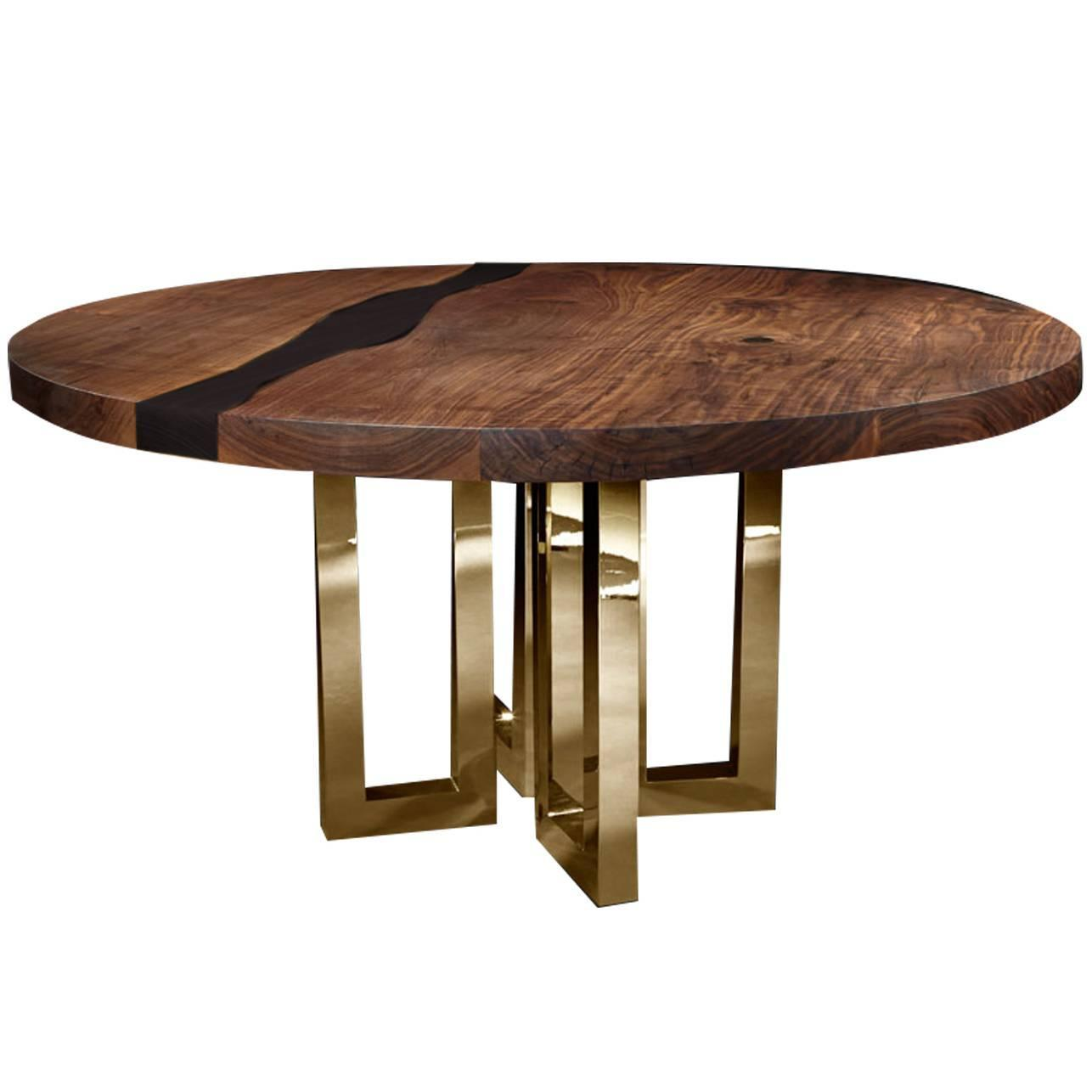 Round Dining Room Table For 6: Il Pezzo 6 Round Table Black At 1stdibs