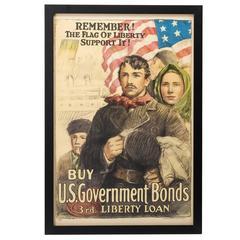 World War I Propaganda Poster, 3rd Liberty Loans, circa 1917