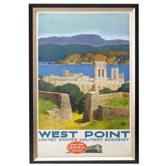 West Point and New York Central System Travel Poster by Leslie Ragan, circa 1952