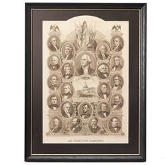 """Our Twenty-Two Presidents"" Print, circa 1884"
