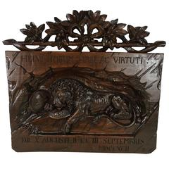 "Black Forest Plaque ""Lion of Lucerne"""