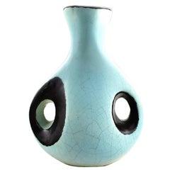 Hans Hedberg Swedish Ceramist, Unique Ceramic Vase, circa 1960s