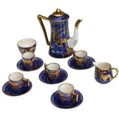 Complete Vintage English Coffee Set for Five, Immaculate Conditions