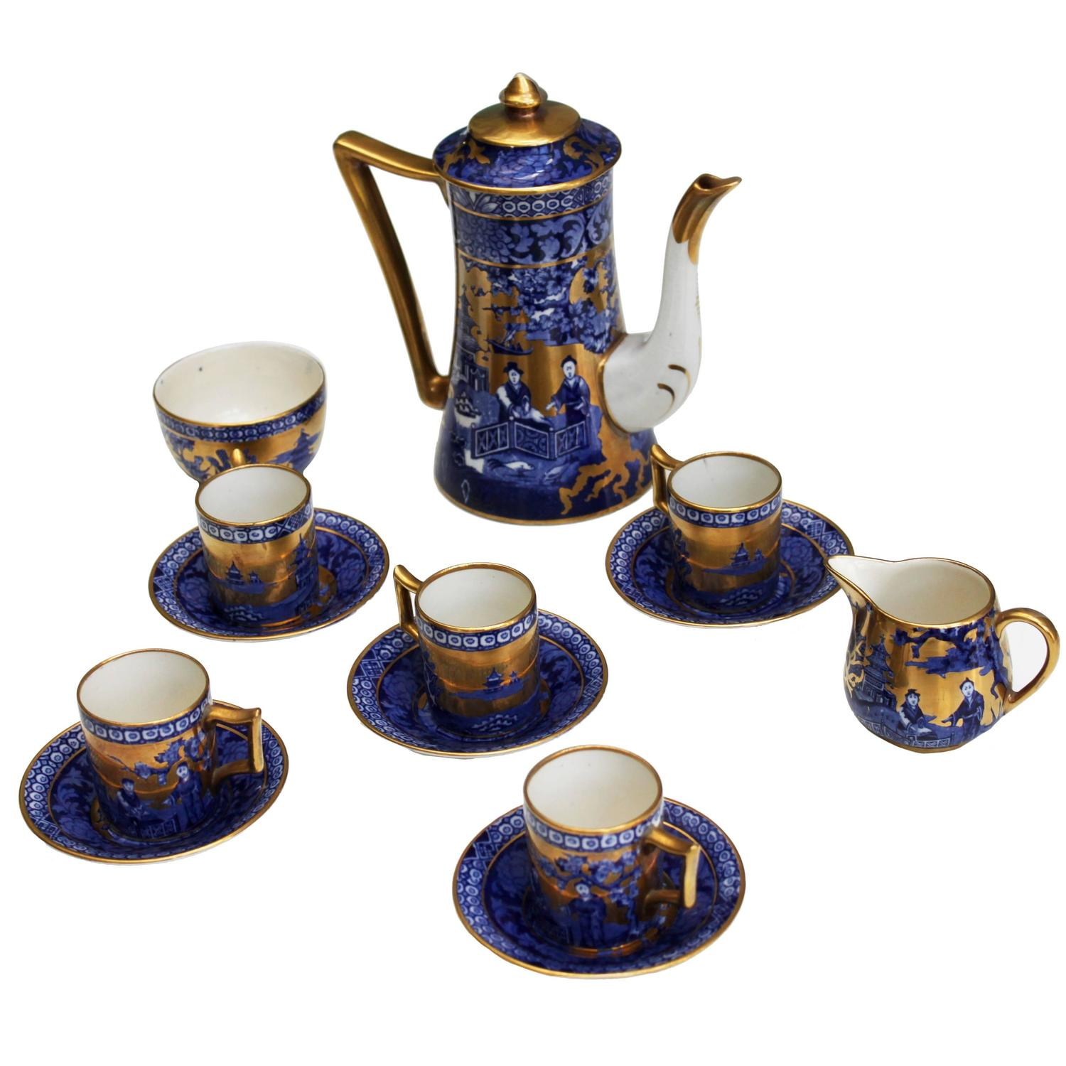 Complete Vintage English Coffee Set For Five Immaculate