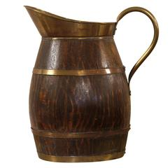 Very Large and Decorative 19th Century Oak Pitcher
