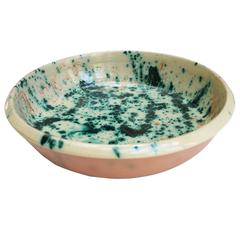 One of a Kind Serving Ceramic Bowl, Hand-Painted