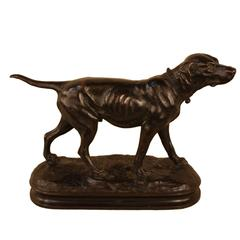 Bronze Sculpture of Hunting Dog by Alphonse Arson