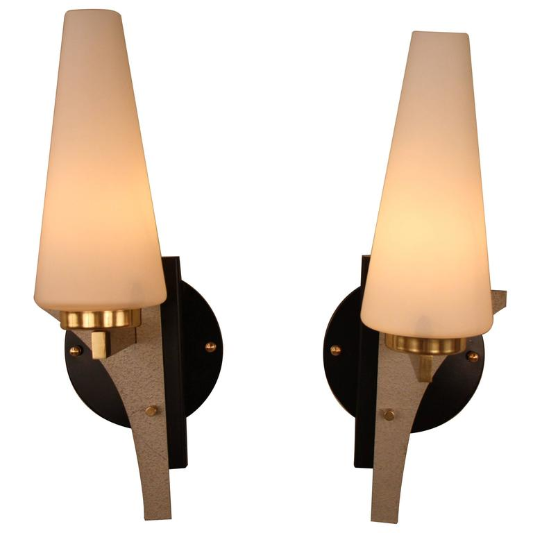 Pair of Mid-Century Wall Sconces