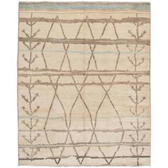 Vintage Zemmour North African Berber Kilim Carpet For Sale