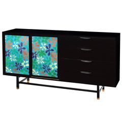 Chic Cabinet with Jewelry Enamel Doors by Harvey Probber