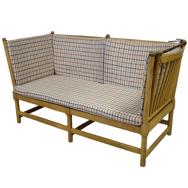 1960s Borge Mogensen Beech Spoke Back Daybed Sofa Denmark at 1stdibs