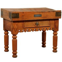 19th Century French Butcher Block