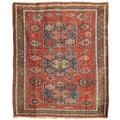 Antique 19th Century Caucasian Soumak Rug