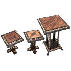 Oriental Antique Side Table Set