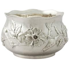Sterling Silver Bowl, Arts and Crafts Style, Antique Edwardian