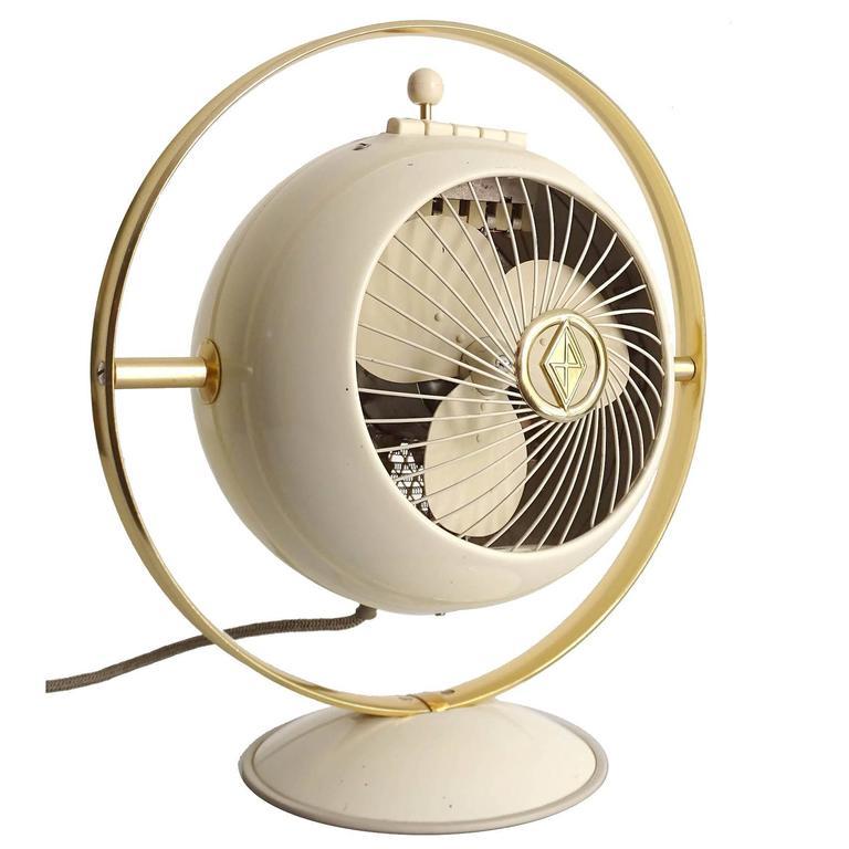Mid-Century Saturn Design Electric Fan, Space Age ...
