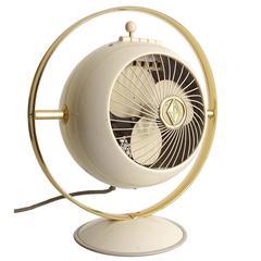 Mid-Century Saturn Design Electric Fan, Space Age Modernist, 1950s Art Deco