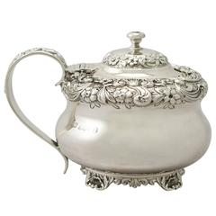Sterling Silver Mustard Pot by William Bateman II, Antique George IV