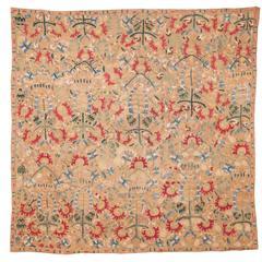 18th Century Greek Island Embroidery in Silk