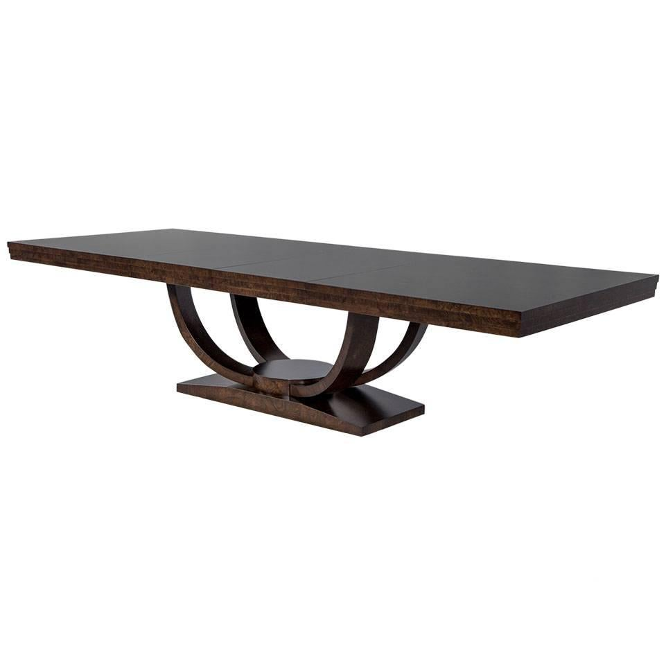 Carrocel Custom Olive Burled Deco Inspired Dining Table