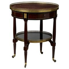 Louis XVI Brass-Mounted Mahogany Bouillotte Table