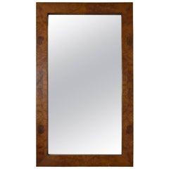 Midcentury Burl Walnut Wall Mirror
