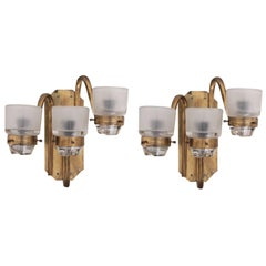 Pair of Marco Zanuso Wall Lamps or Sconces by O-Luce