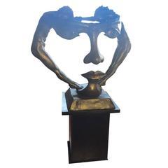 "Bronze ""We Two Together"" Sculpture"