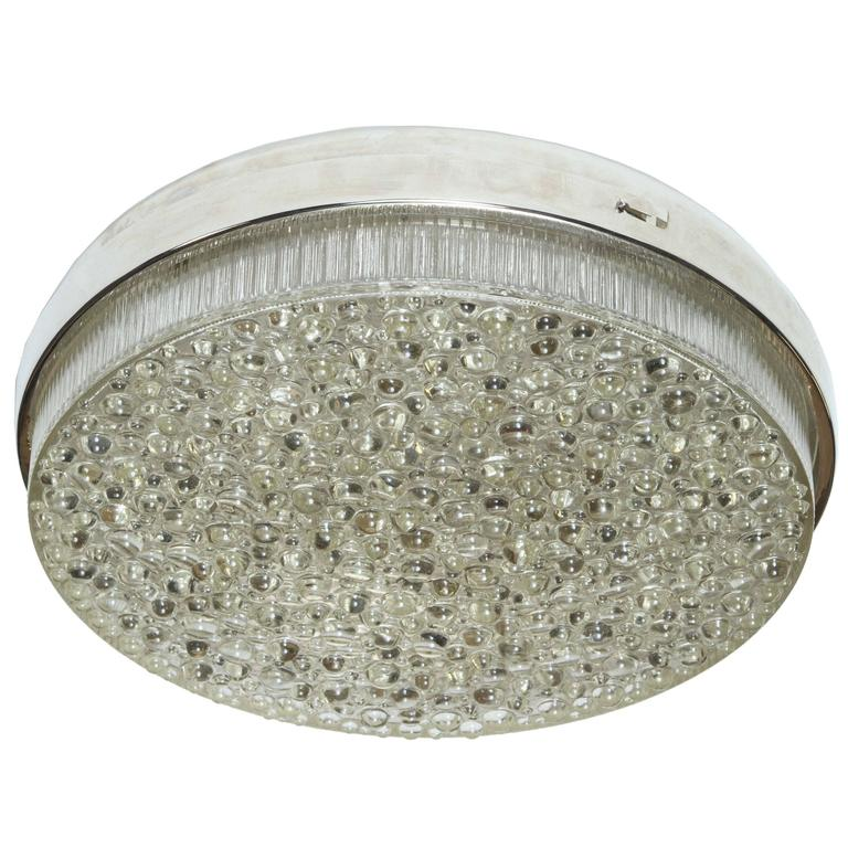 Large Bubble Glass Flush Mount/Sconce For Sale at 1stdibs