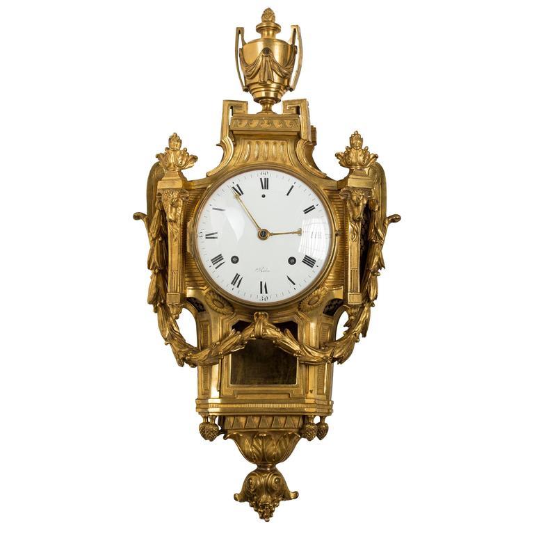 Louis XVI Ormolu Cartel Clock
