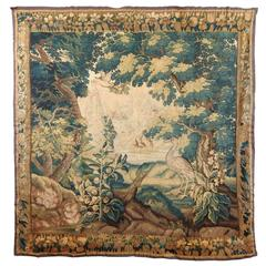 Large 18th Century French Aubusson Tapestry with Bird