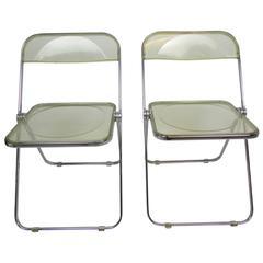 Mid-Century Lucite Acrylic 'Plia' Folding Chair