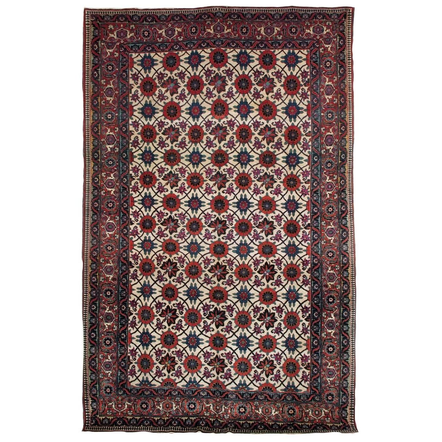 Early 20th Century Veramin Carpet For Sale At 1stdibs