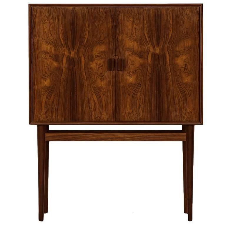 Helge Vestergaard Jensen Bar Cabinet Model 63 By Jason Møbler In Denmark  For Sale