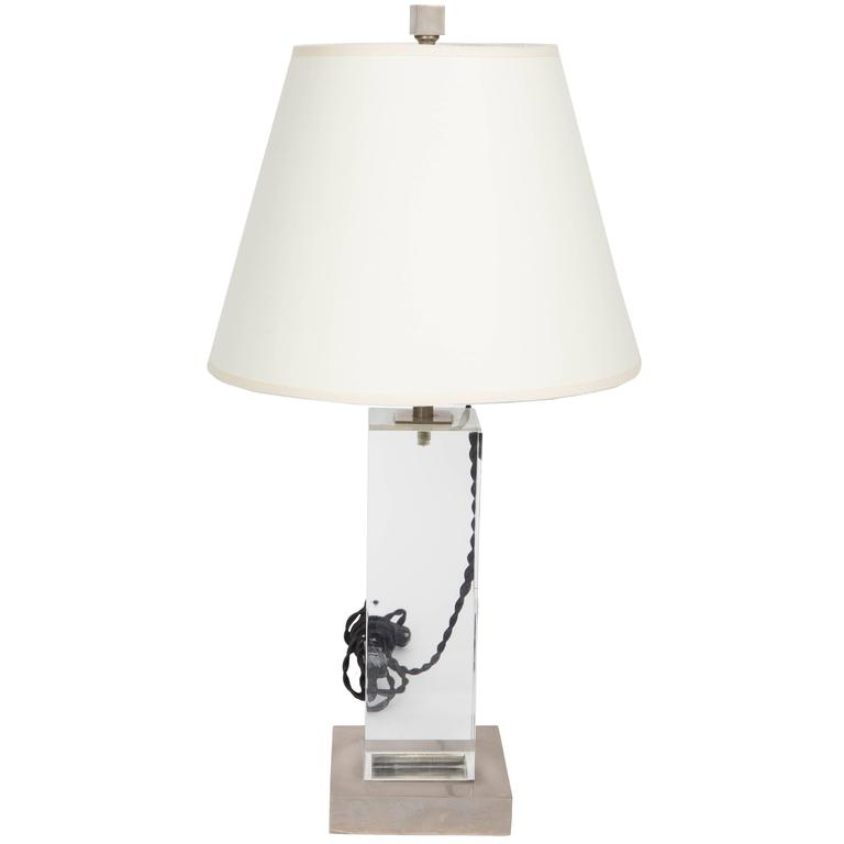 Lucite and Metal Lamp 1