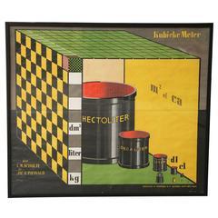 Dutch De Stijl Cubic Meter Poster